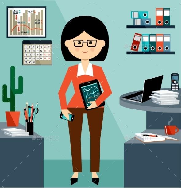 Business Woman - Business Conceptual