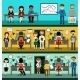 People in Flat Style Design - GraphicRiver Item for Sale
