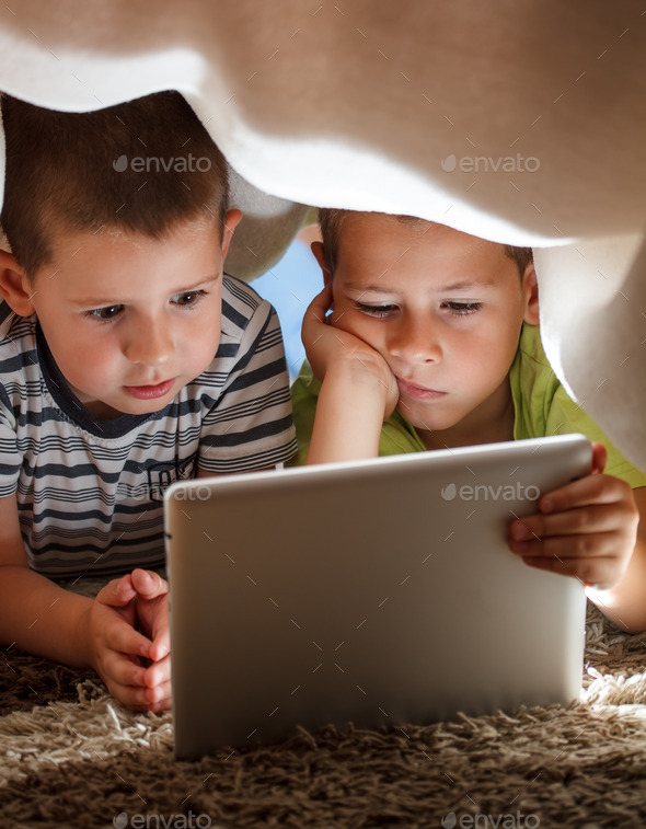 Two children - Stock Photo - Images