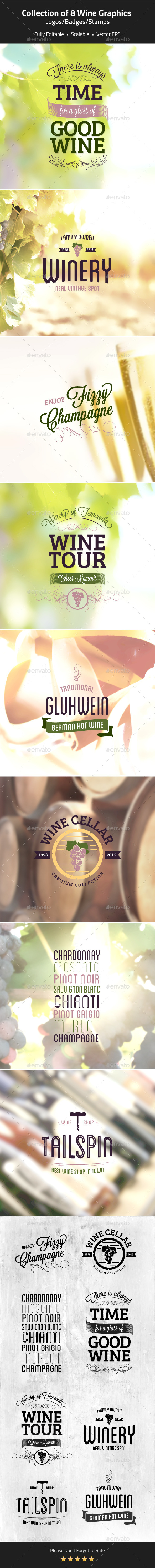 Wine Logos, Badges, Stamps - Badges & Stickers Web Elements
