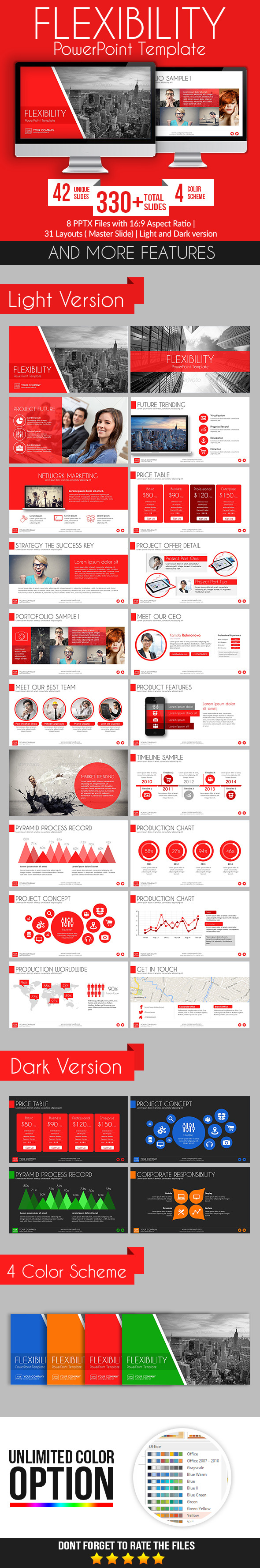Flexibility PowerPoint Template - Business PowerPoint Templates