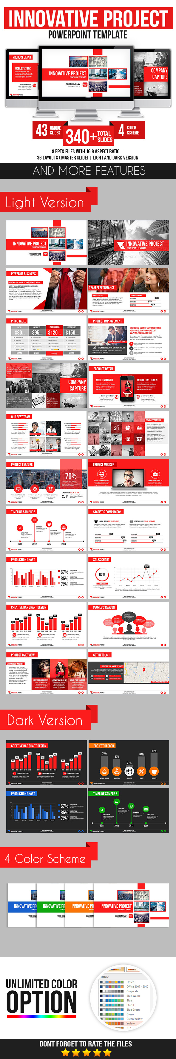 Innovative Project - Business PowerPoint Templates