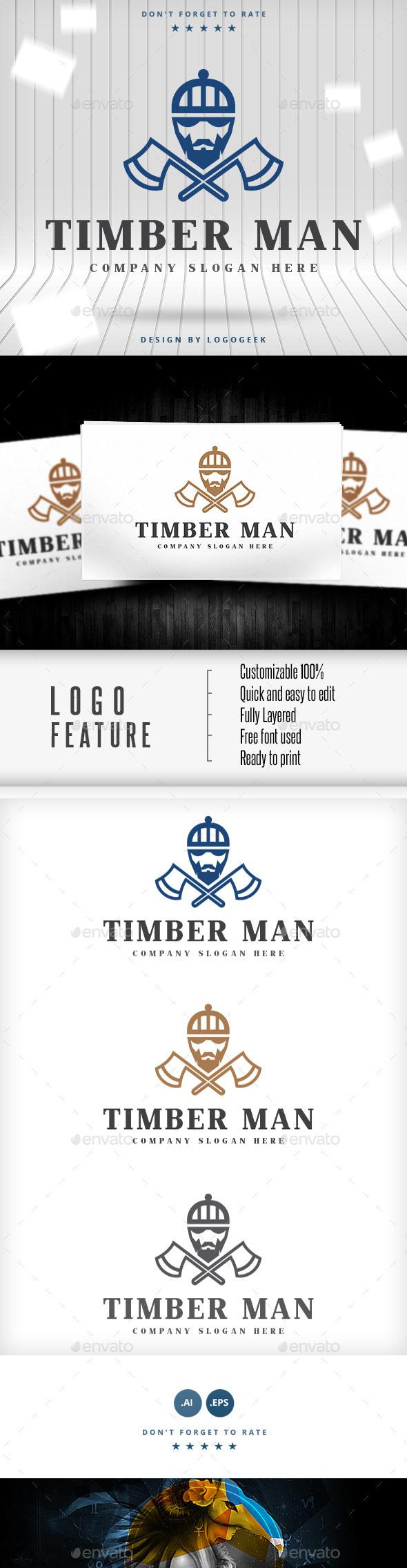 Timber Man Logo - Logo Templates