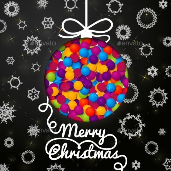 Merry Christmas with Snowflakes - Christmas Seasons/Holidays