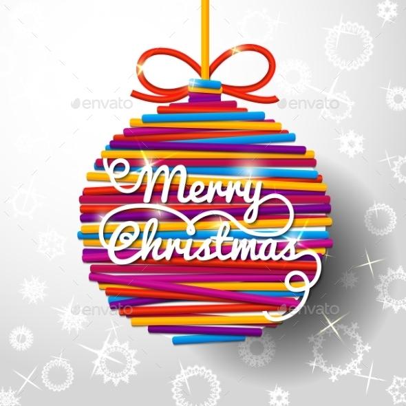 Merry Christmas Handwritten Swirl Lettering - Christmas Seasons/Holidays