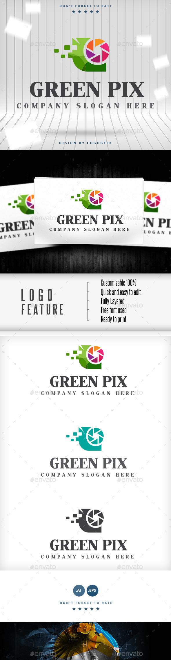 Green Pix Logo - Logo Templates