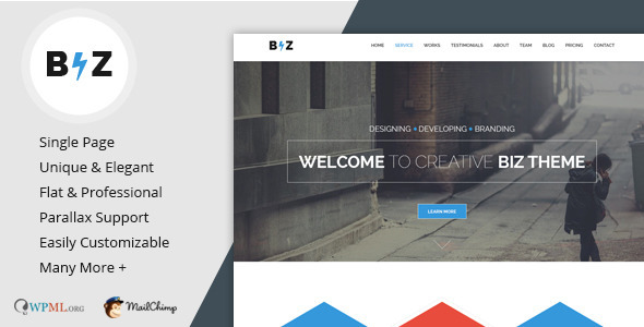 Biz - Multipurpose Business WordPress Theme