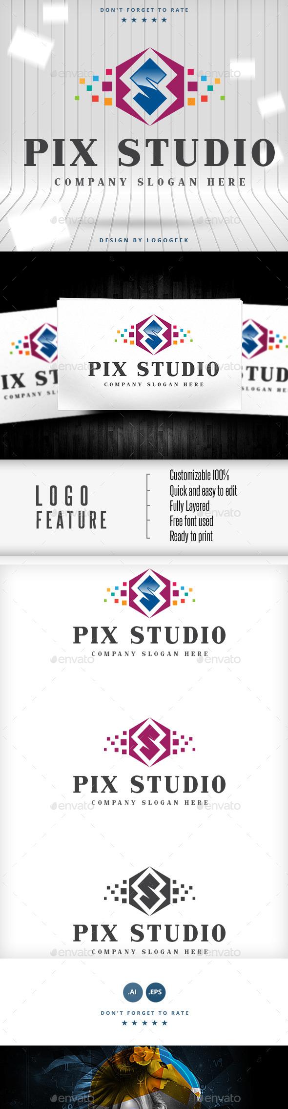 Pix Studio Logo - Logo Templates