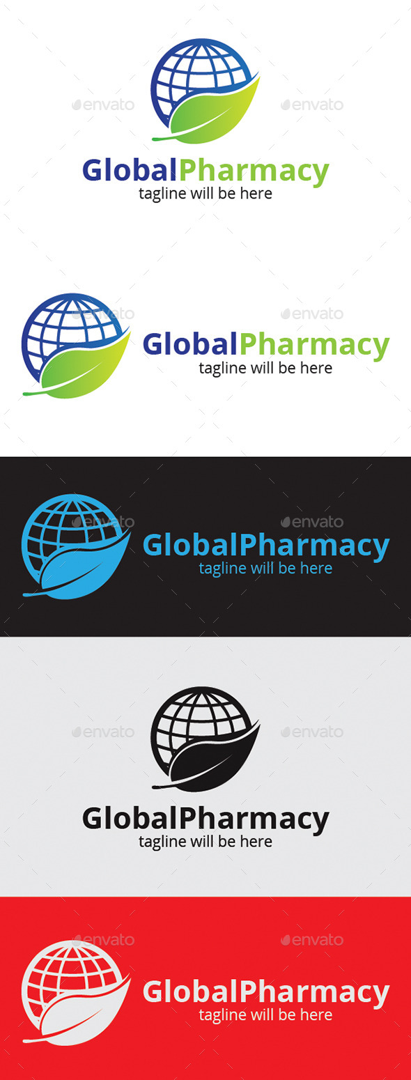 Global Pharmacy - Logo Templates
