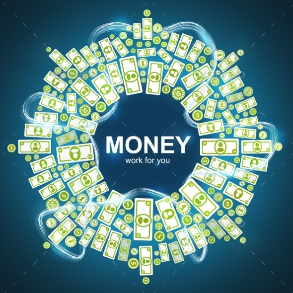 Background with Money - Backgrounds Business