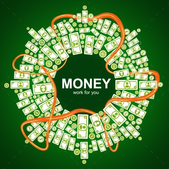 Background with Money - Abstract Conceptual