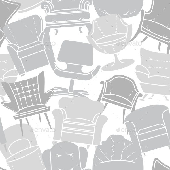 Armchair Pattern - Objects Vectors