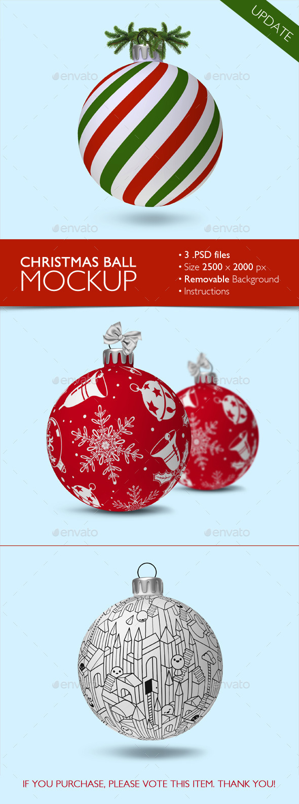 Christmas Ball Mockup - Miscellaneous Product Mock-Ups
