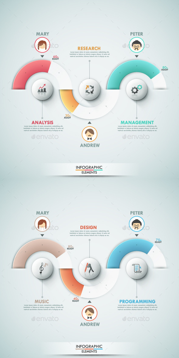 Modern Infographic Options Banner (2 Items) - Infographics