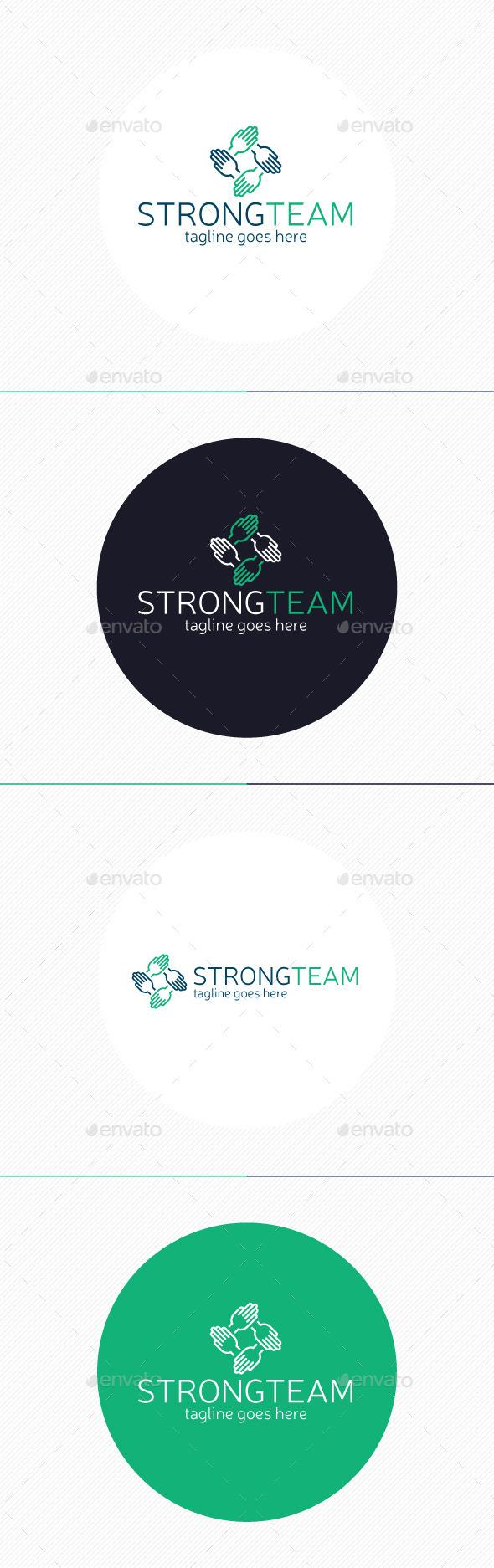 Strong Team Logo - Humans Logo Templates
