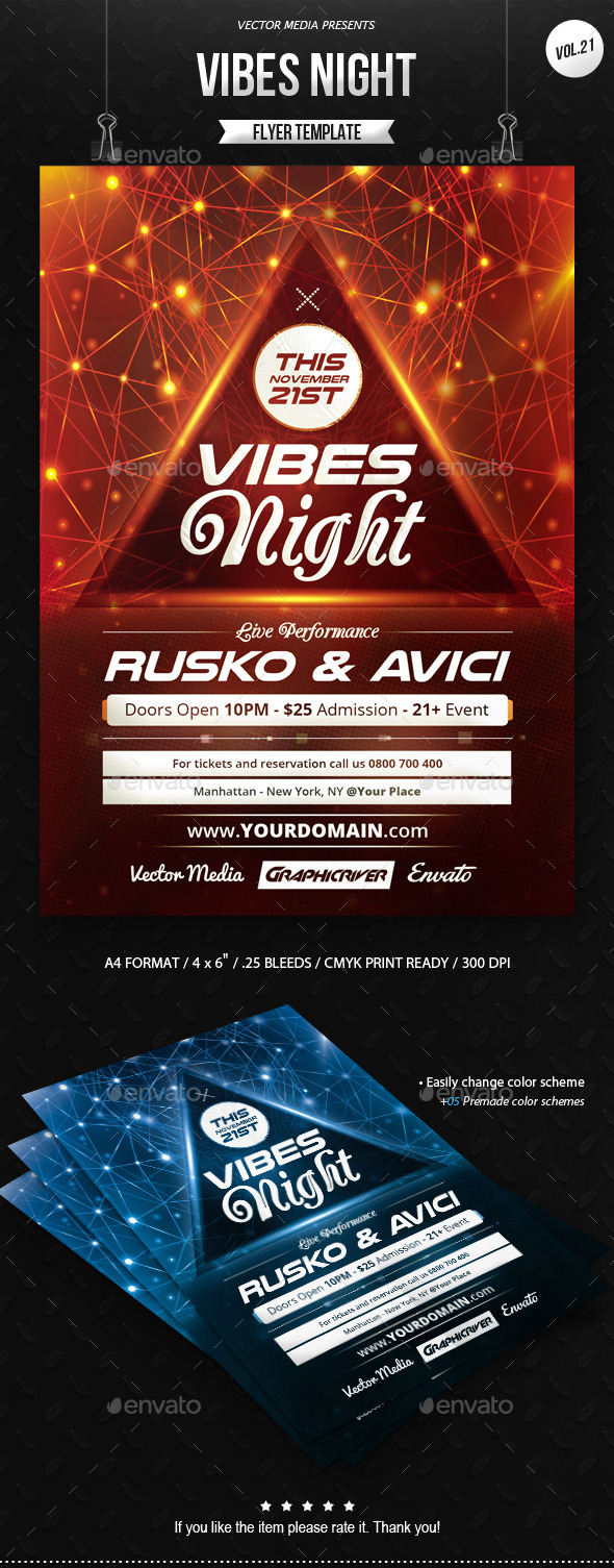 Vibes Night - Flyer [Vol.21] - Clubs & Parties Events