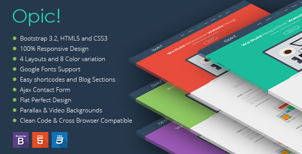 Opic! Flat One Page Responsive Template