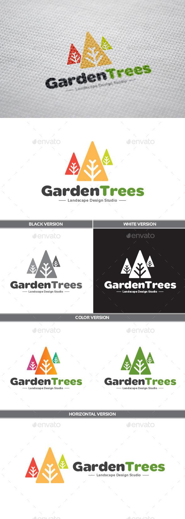 GardenTrees Logo - Nature Logo Templates