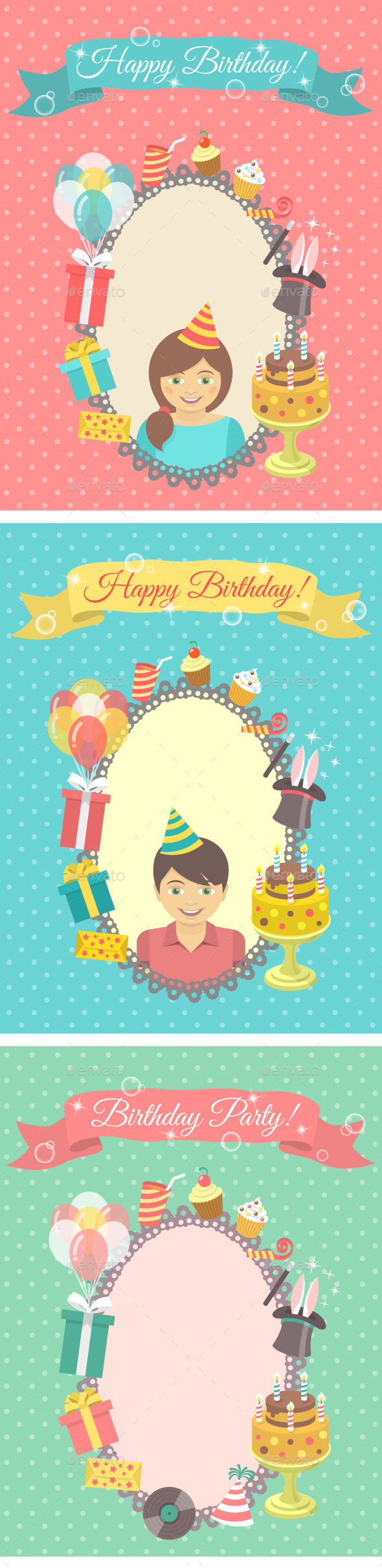 Happy Birthday Cards Collection - Birthdays Seasons/Holidays