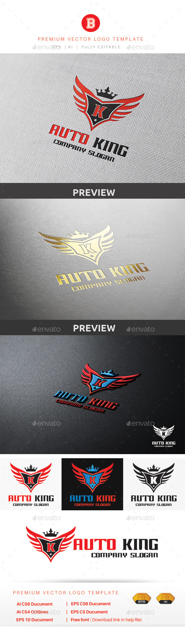 Auto King - Objects Logo Templates
