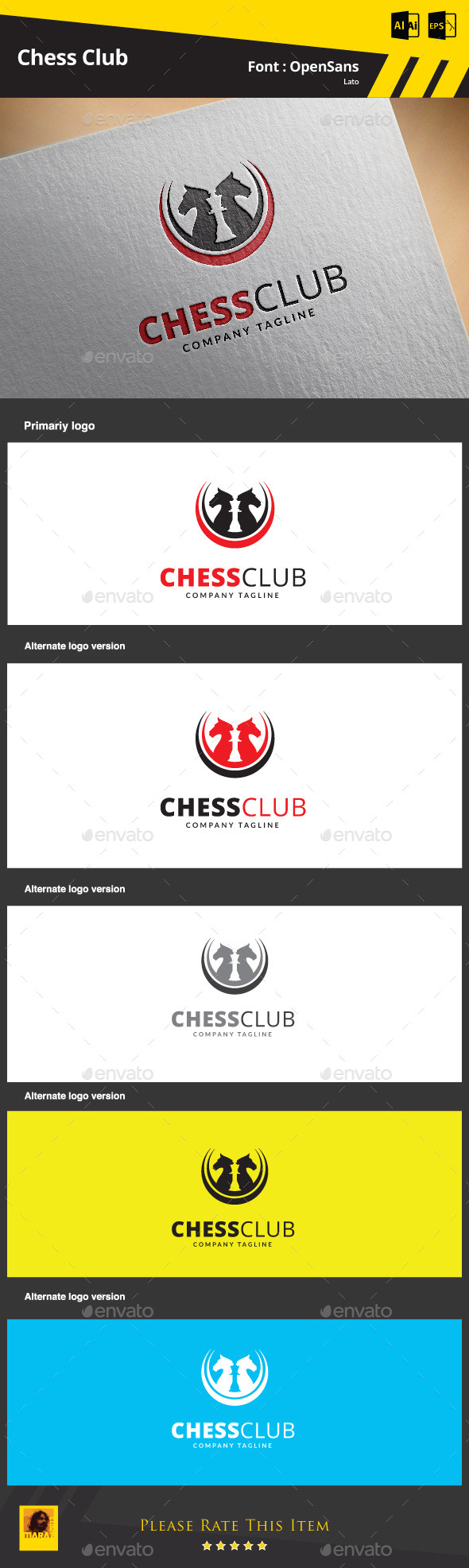 Chess Club Logo Template - Objects Logo Templates