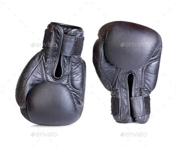 boxing gloves isolated on white background - Stock Photo - Images