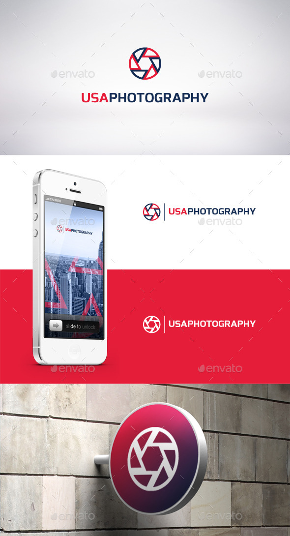 USA Photography Logo Template - Symbols Logo Templates