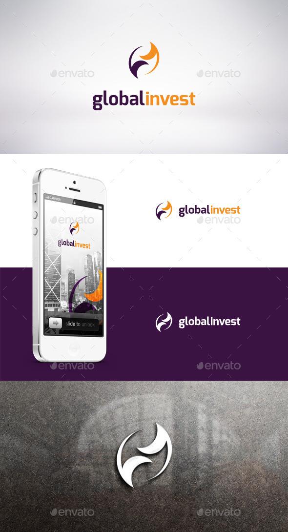 Global Invest Logo Template - Symbols Logo Templates