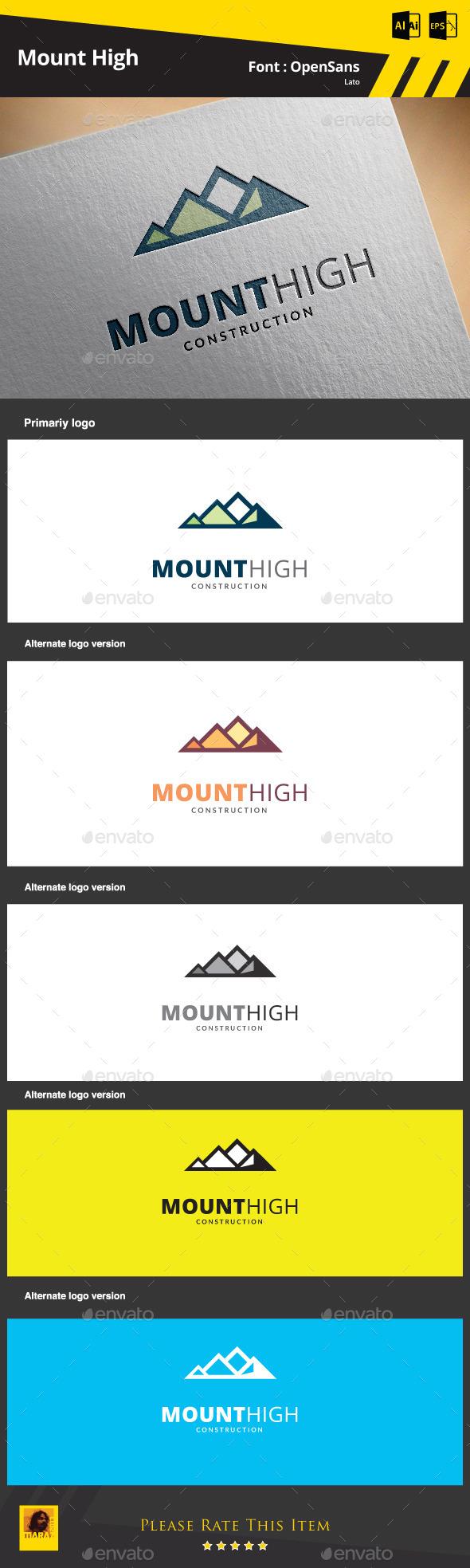 Mount High Construction - Symbols Logo Templates