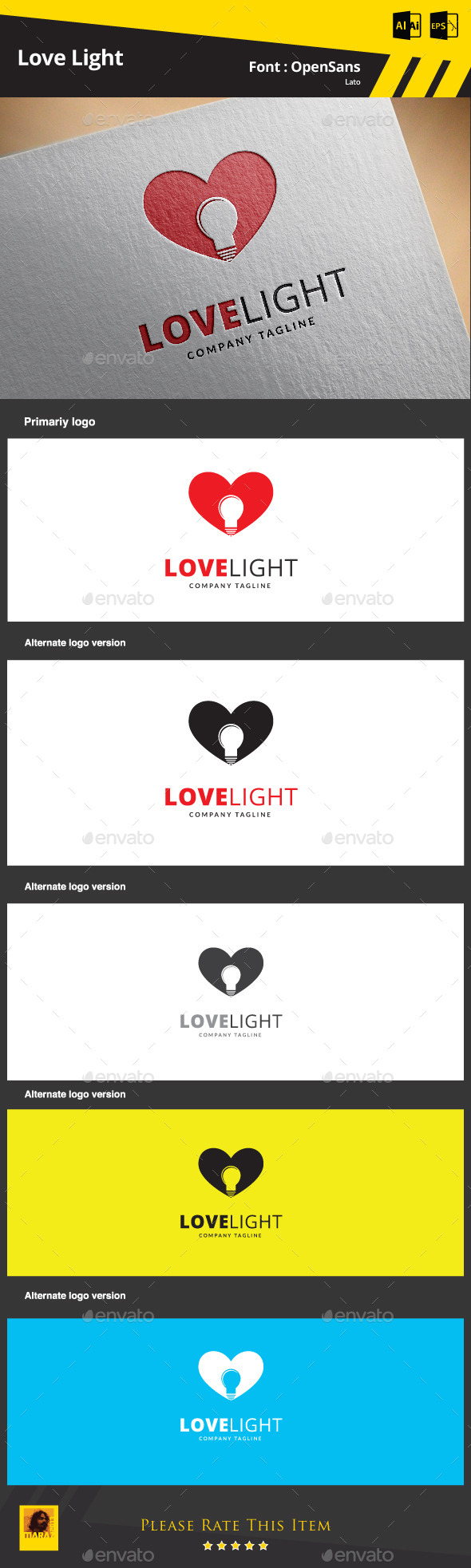 Love Light Logo Template - Symbols Logo Templates