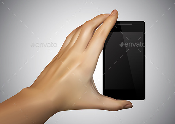 Hand Holding a Smartphone - Communications Technology