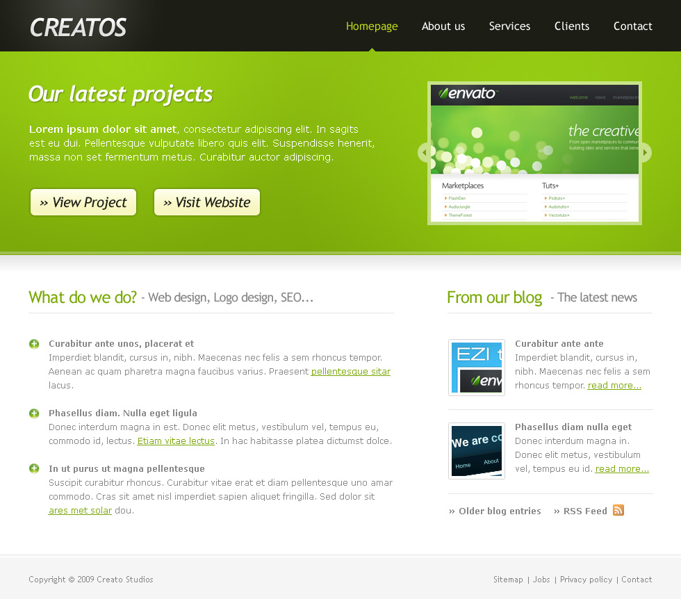 Free Download Creatos - Clean & Sytlish Website Layout Nulled Latest Version