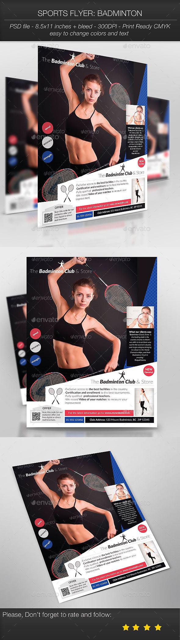 Sports Flyer: Badminton - Sports Events