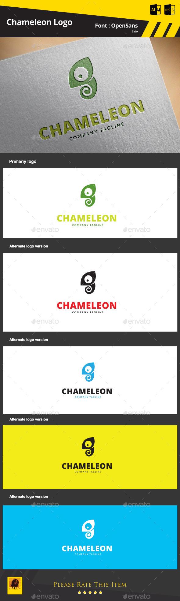 Chameleon  Logo Template - Animals Logo Templates