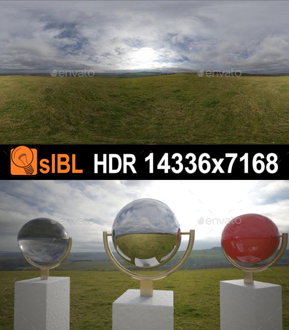 HDR 136 Cloud Sky Hill Top sIBL - 3DOcean Item for Sale