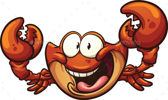 Cartoon Crab - Animals Characters
