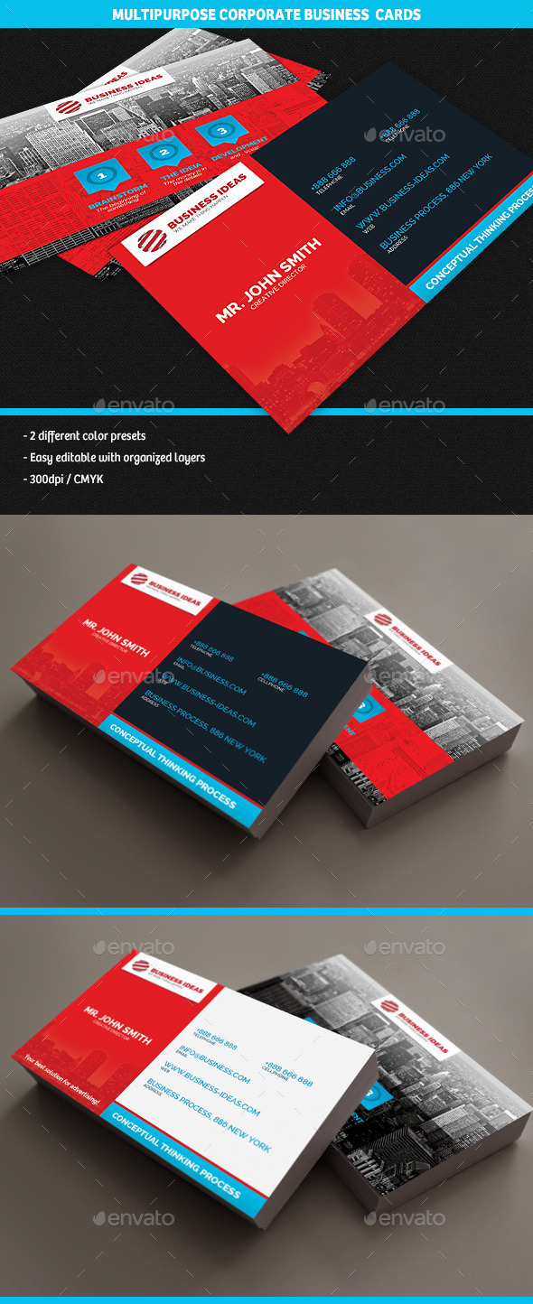 Multipurpose Corporate Business Cards - Corporate Business Cards