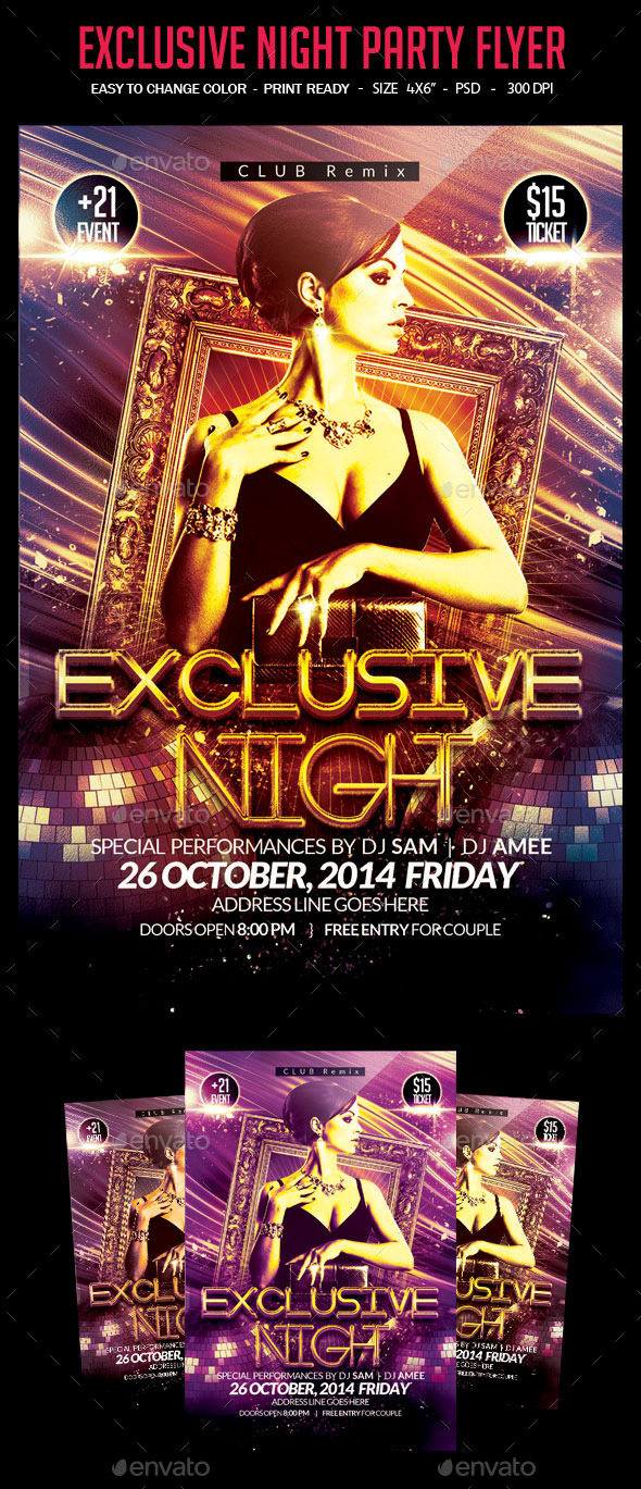 Exclusive Night Party Flyer - Clubs & Parties Events