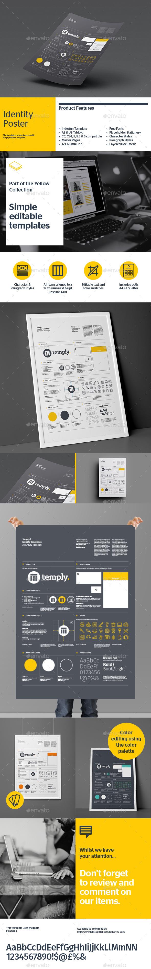 Brand Identity Poster  - Flyers Print Templates