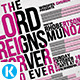 Jesus Reigns Church Flyer - GraphicRiver Item for Sale