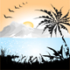 Landscape with Palm  - GraphicRiver Item for Sale