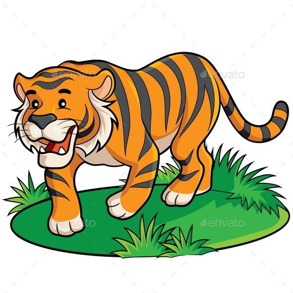 Tiger Cartoon - Animals Characters