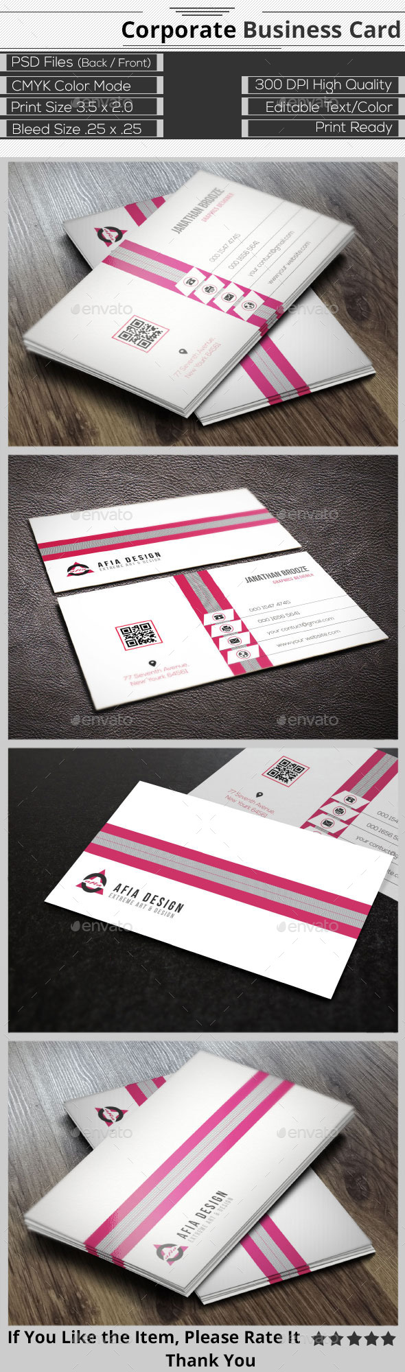 Clean Creative Corporate Business Card - Corporate Business Cards