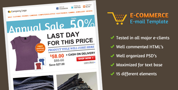 Free Download E-commerce E-mail Template Nulled Latest Version