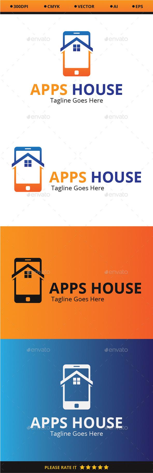 Apps House - Buildings Logo Templates