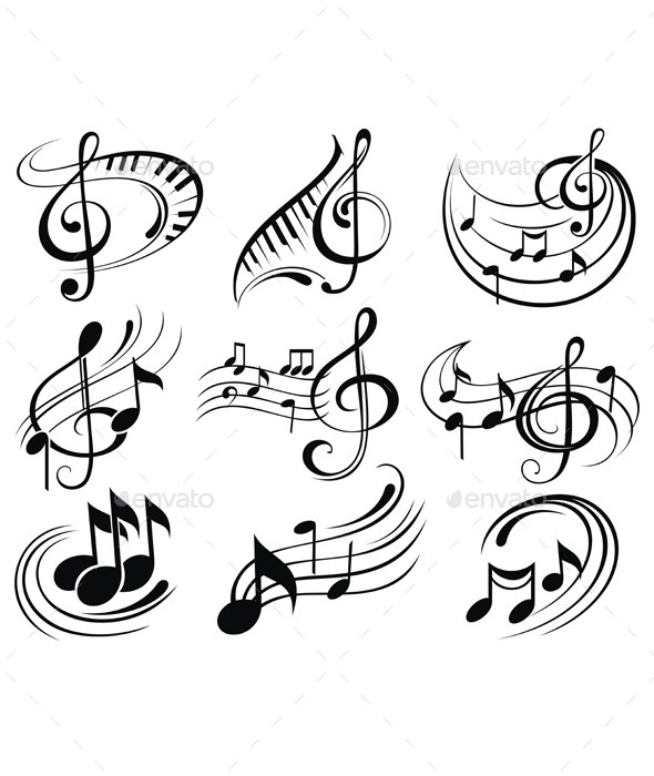 Music Notes By Ksyxa Graphicriver