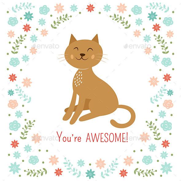 Cat Illustration - Animals Characters