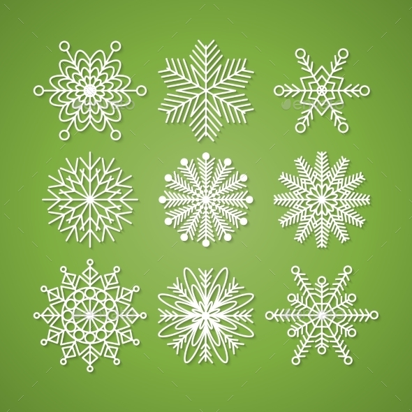 Collection of Snowflakes - Christmas Seasons/Holidays