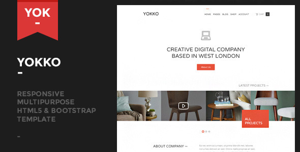Yokko - Responsive Multipurpose Template - Corporate Site Templates