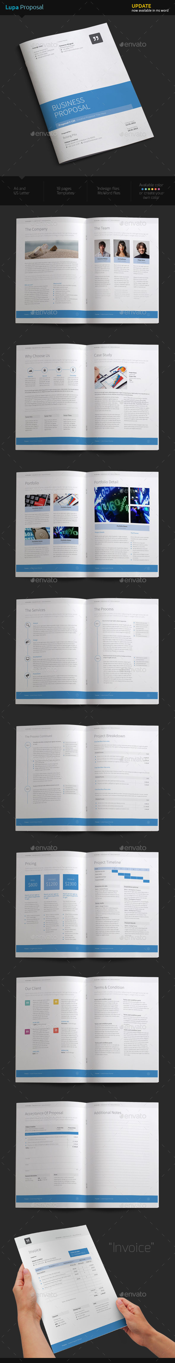 Lupa Proposal - Proposals & Invoices Stationery